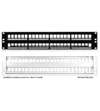 "BNET 48 PORT PATCH PANEL 19""/2U BLACK FOR 48x RJ45 KEYSTONE MODULES UTP-FTP/STP (WITHOUT MODULES)"