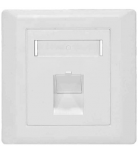 BNET 1 PORT FACEPLATE ANGLED OUTLET WHITE FOR RJ45 KEYSTONE MODULE UTP-FTP/STP BRITISH STANDARD (WITHOUT MODULE)